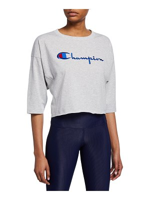 Champion Europe Reverse Weave Cropped 3/4-Sleeve T-Shirt