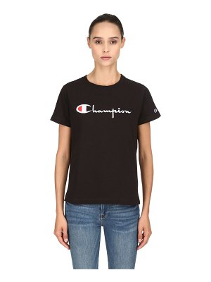 Champion Logo embroidered cotton t-shirt