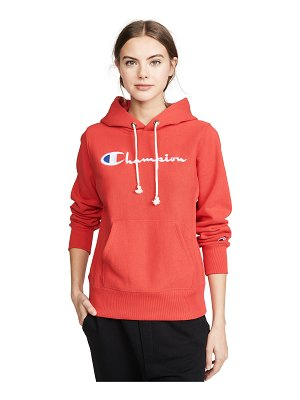 Champion Premium Reverse Weave big script hooded sweatshirt