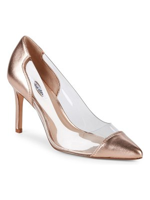 Charles David Clear Metallic Leather Pumps