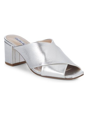 Charles David Crissaly Metallic Leather Sandals