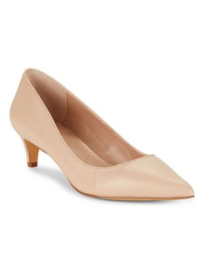 Charles David Kitten Leather Pumps