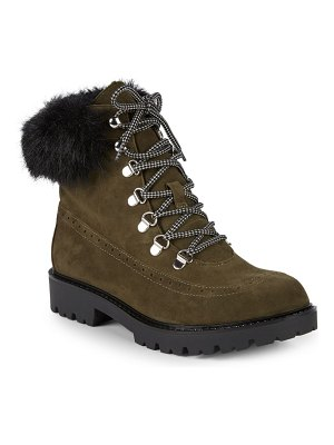 Charles David Ramses Faux Fur Hiking Boots
