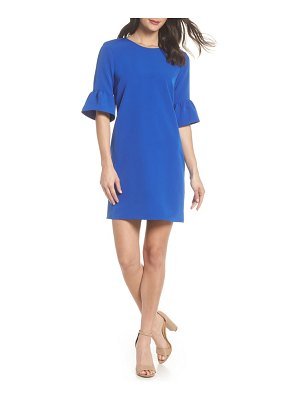 Charles Henry bell sleeve shift dress