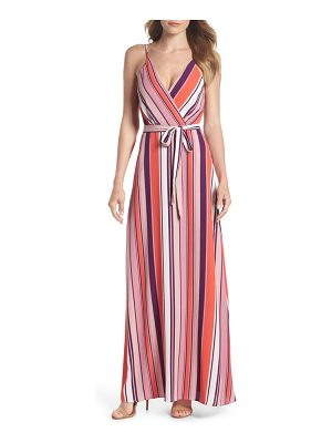 Charles Henry belted cami maxi dress