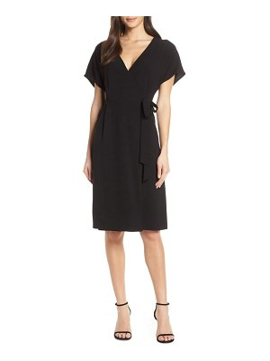 Charles Henry faux wrap dress