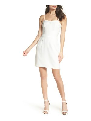 Charles Henry fitted corset sheath dress