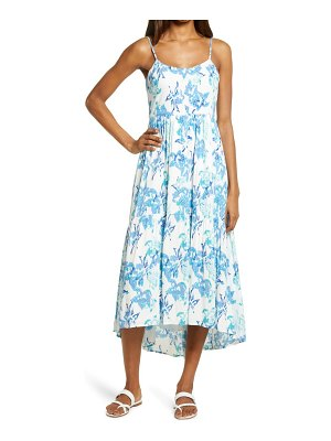 Charles Henry floral high/low tiered sundress