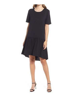 Charles Henry high/low knit dress