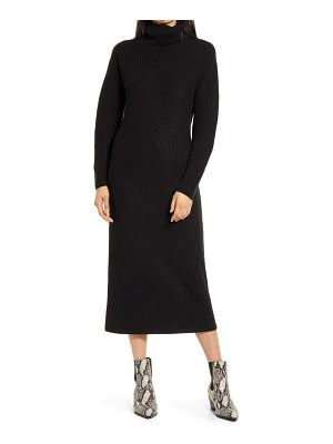 Charles Henry long sleeve turtleneck sweater dress
