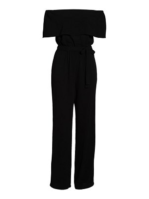 Charles Henry off the shoulder popover jumpsuit