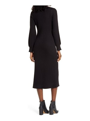 Charles Henry ribbed body-con sweater dress