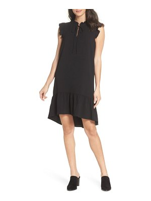 Charles Henry ruffle shift dress