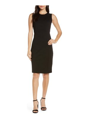 Charles Henry sleeveless sheath dress