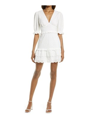 Charles Henry tiered eyelet dress