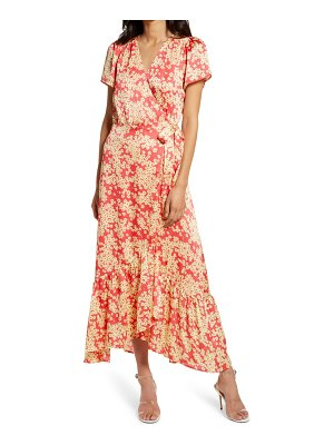 Charles Henry wrap maxi dress