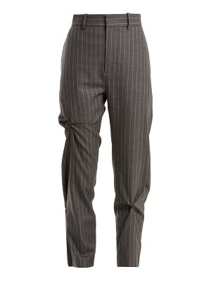 CHARLES JEFFREY LOVERBOY High-rise pinstripe wool trousers