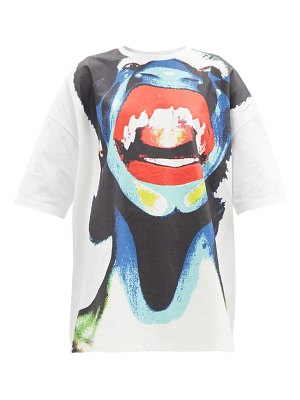 CHARLES JEFFREY LOVERBOY abstract face-print oversized cotton t-shirt