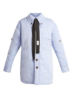 CHARLES JEFFREY LOVERBOY Claes single-breasted padded cotton jacket