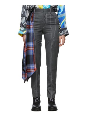 CHARLES JEFFREY LOVERBOY grey draped trousers