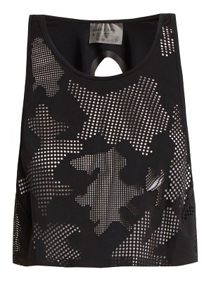 CHARLI COHEN lumen perforated front jersey cropped top