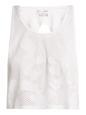 CHARLI COHEN Lumen perforated-front jersey cropped top
