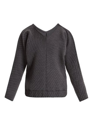 CHARLI COHEN on the qt quilted wool blend sweater