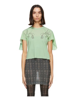 Charlotte Knowles godet sleeves t-shirt