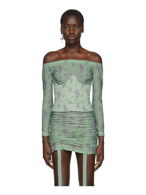 Charlotte Knowles green corset top