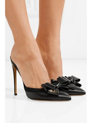 Charlotte Olympia bow-embellished leather mules