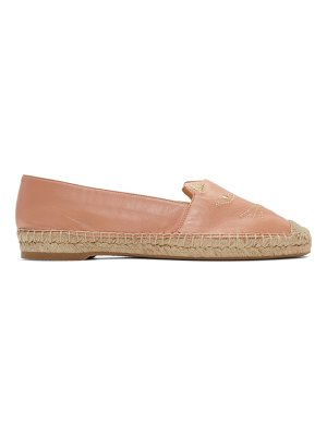 Charlotte Olympia pink kitty espadrilles