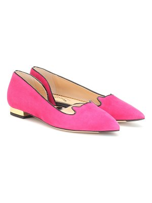 Charlotte Olympia kitty suede ballet flats