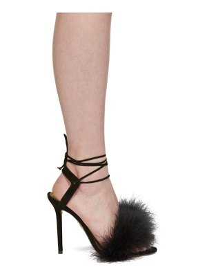 Charlotte Olympia Suede Feather Salsa Sandals