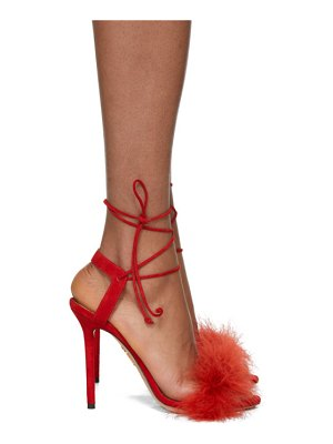 Charlotte Olympia Suede Salsa Sandals