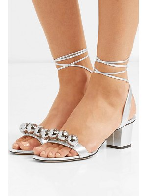Charlotte Olympia tara embellished metallic leather sandals