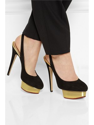 Charlotte Olympia the dolly suede pumps