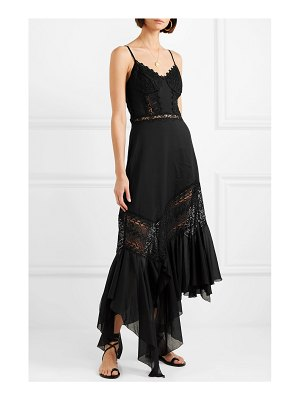 Charo Ruiz briana crocheted lace and cotton-blend voile maxi dress
