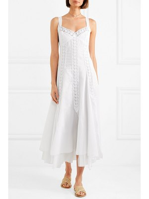 Charo Ruiz heart crocheted lace-trimmed cotton-blend voile dress