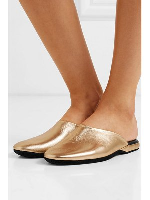 Charvet metallic textured-leather slippers