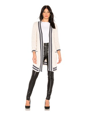 Chaser Cable Knit Wrap Cardigan