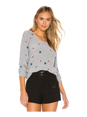 Chaser cozy knit stars sweater