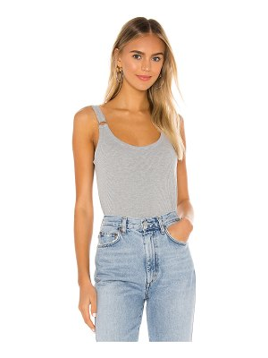 Chaser cropped double scoop ring cami