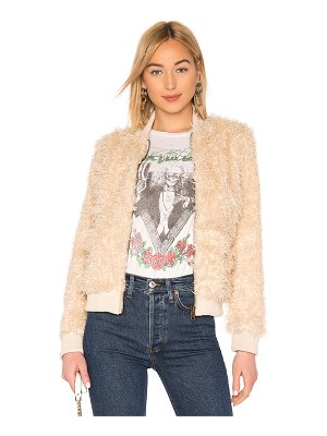 Chaser faux fur lamby bomber jacket
