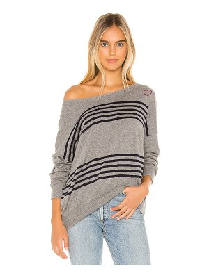 Chaser hearts cashmere blend sweater