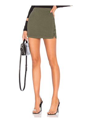 Chaser Lace Up Utility Mini Skirt