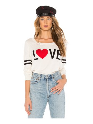 Chaser Love Crew Neck Pullover Sweater