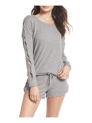 Chaser love lace-up sleeve sweatshirt