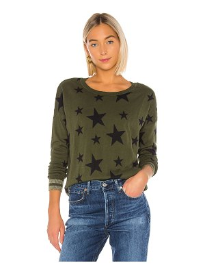 Chaser military stars cashmere blend sweater