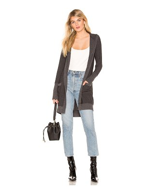 Chaser Open Front Hooded Cardigan With Pockets