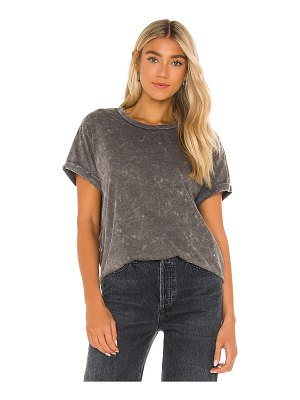 Chaser recycled vintage jersey rolled short sleeve crew neck tee